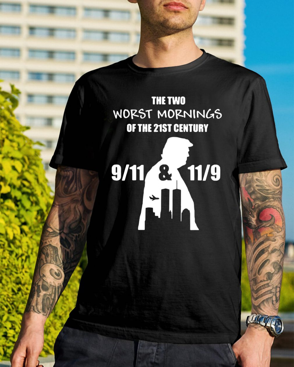 The two worst mornings of the 21st century 9/11 and 11/9 shirt