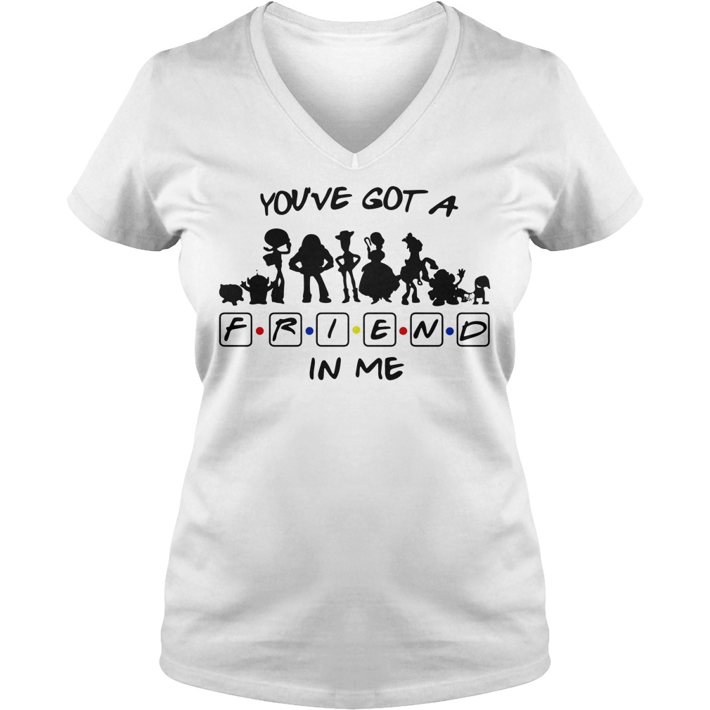 Toy story and friends you've got a friend in me V-neck T-shirt