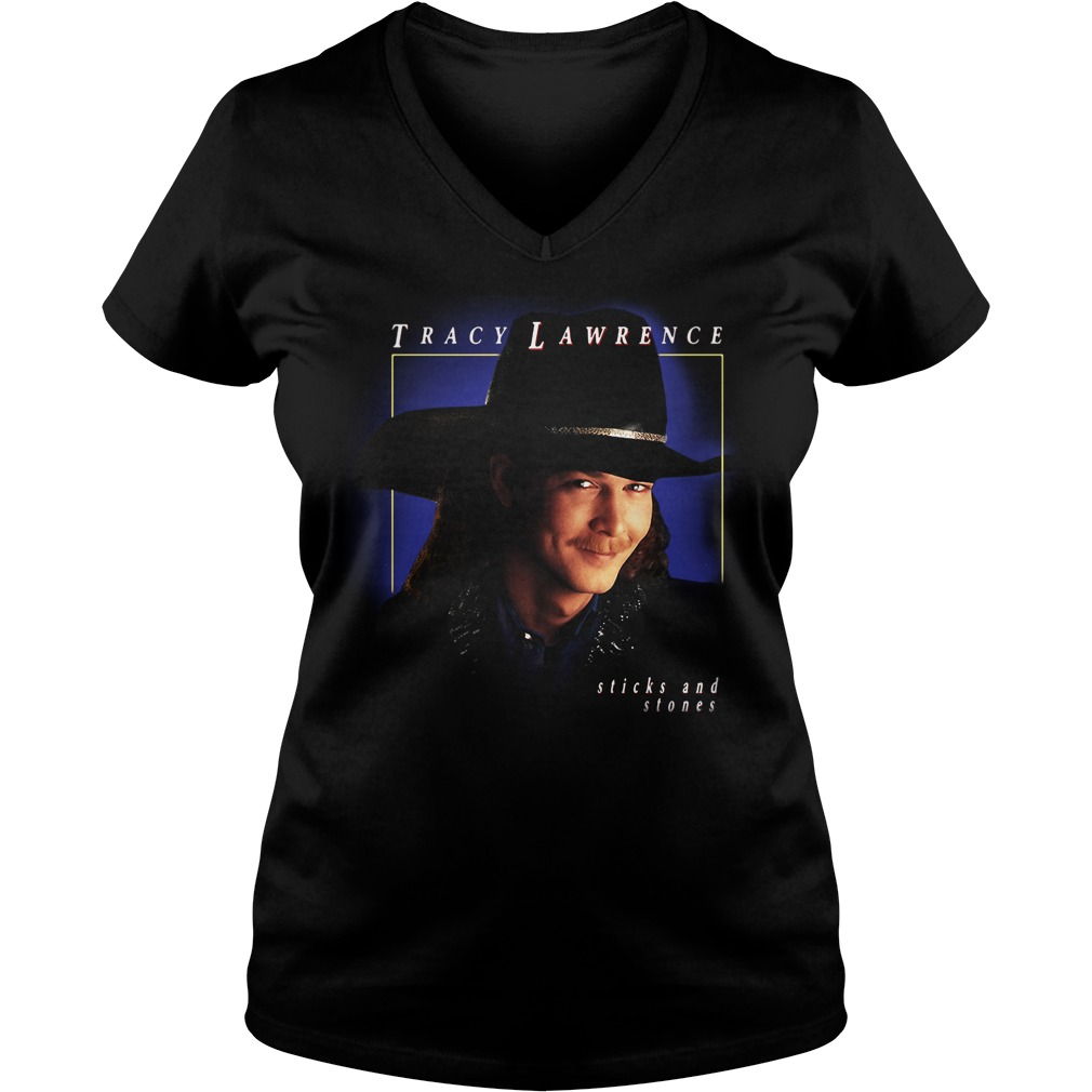 Tracy Lawrence sticks and stones V-neck T-shirt