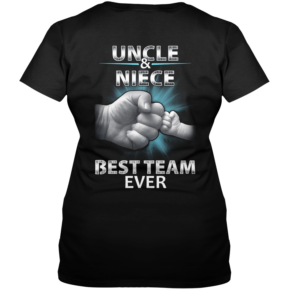 Uncle and niece best team ever V-neck T-shirt