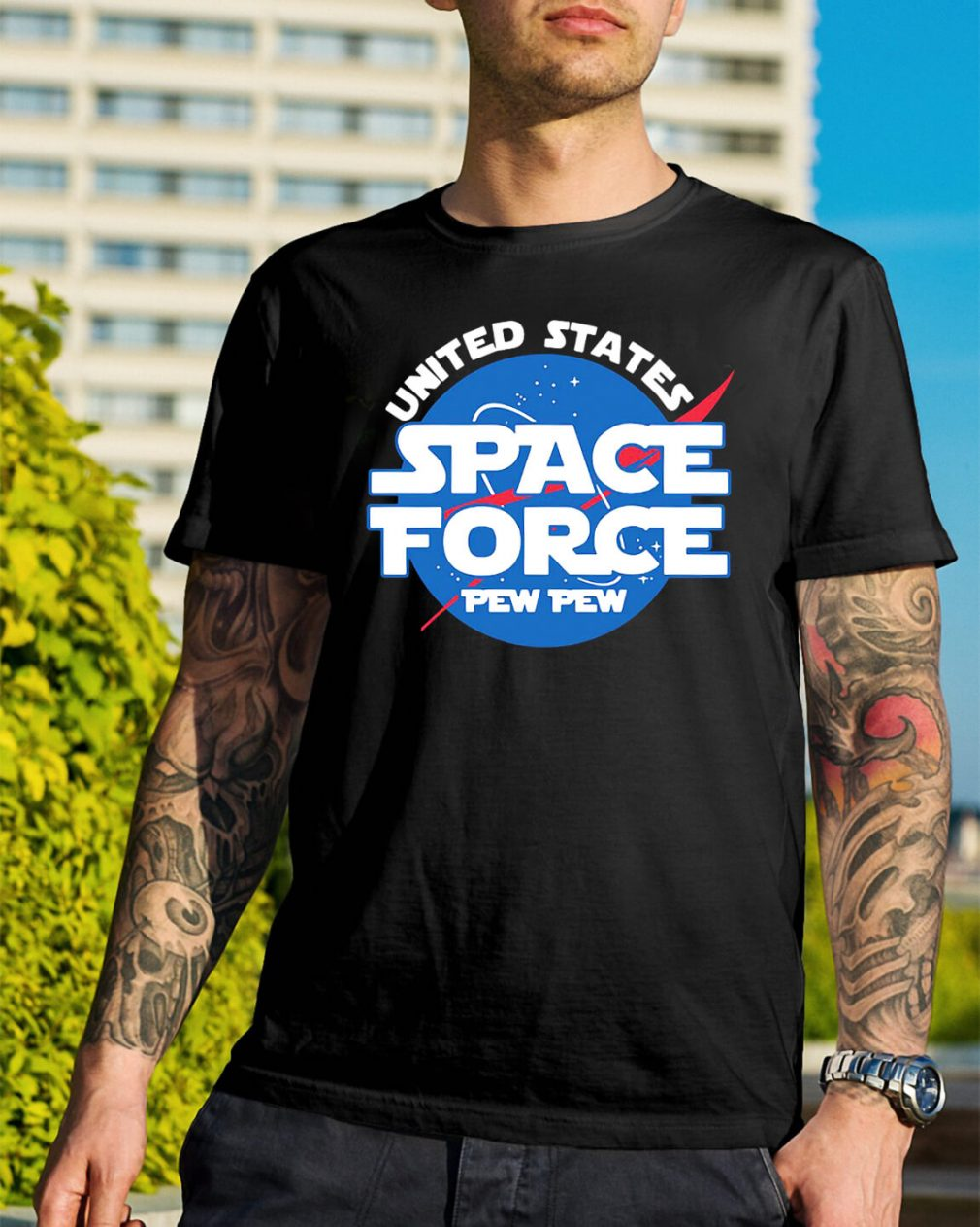 United states space force pewpew shirt