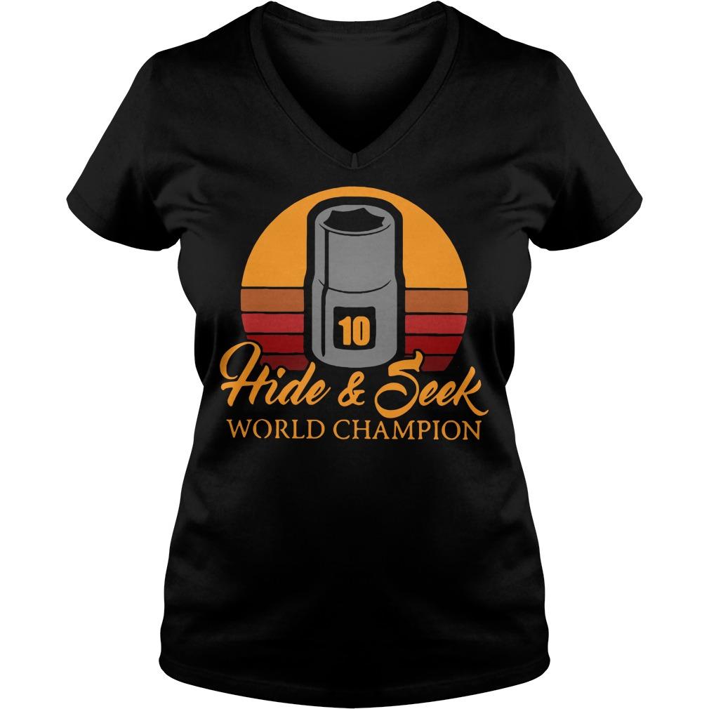 10mm sockets Hide and Seek world champion V-neck T-shirt