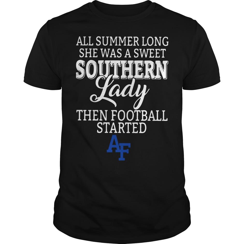 Air Force all summer long she was a sweet Guys Shirt