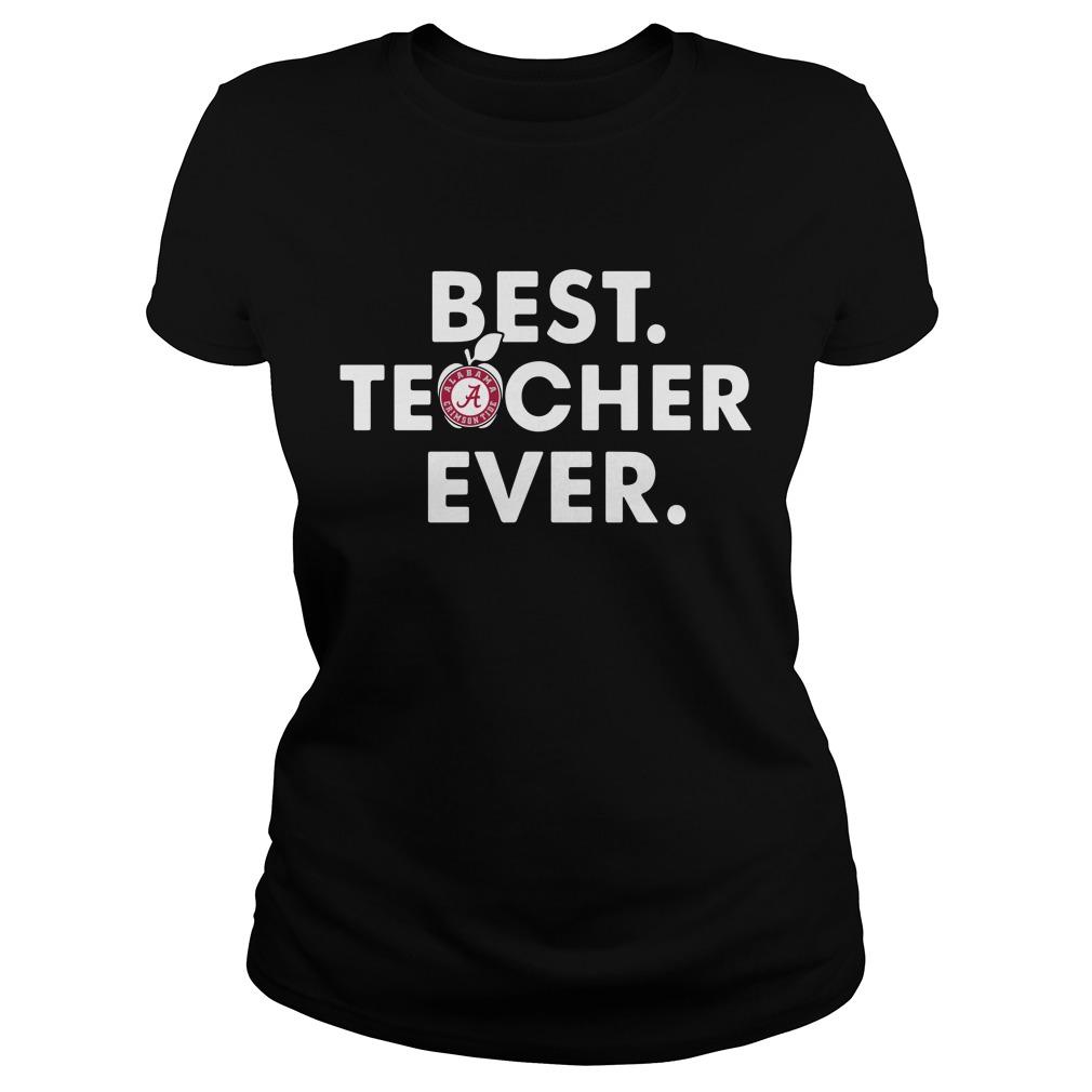 Alabama Crimson best teacher ever Ladies Tee