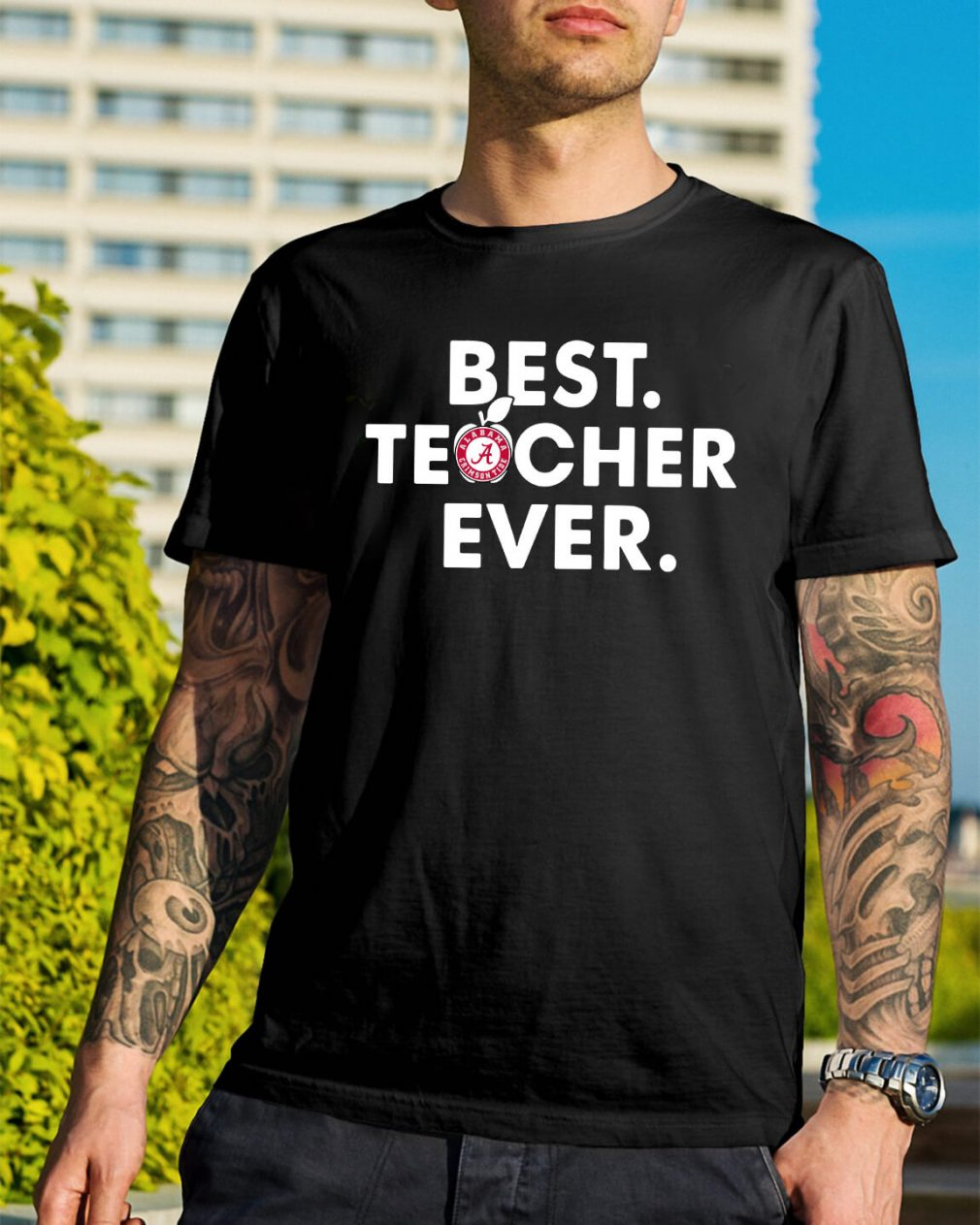 Alabama Crimson best teacher ever shirt