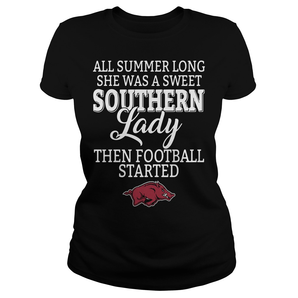 Arkansas Razorbacks all summer long she was a sweet Southern Ladies Tee