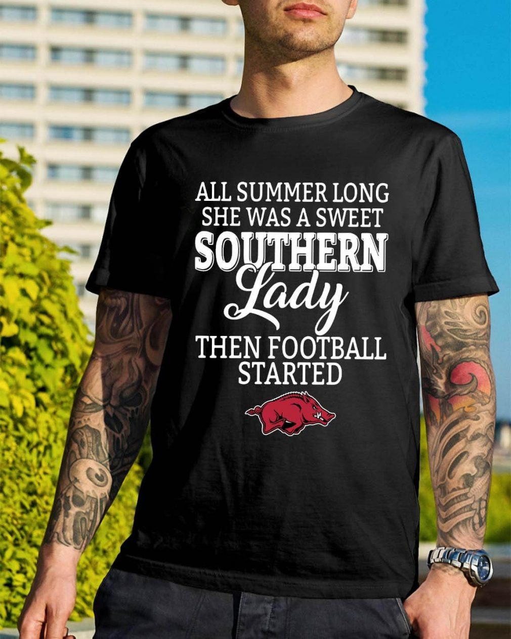 Arkansas Razorbacks all summer long she was a sweet Southern shirt