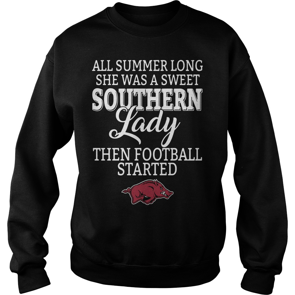 Arkansas Razorbacks all summer long she was a sweet Southern Sweater