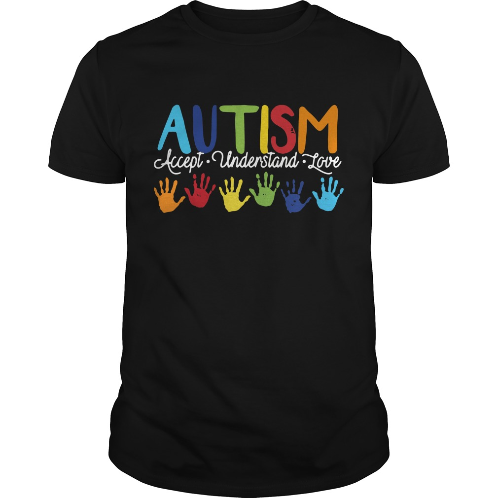 Autism accept understand love Guys Shirt