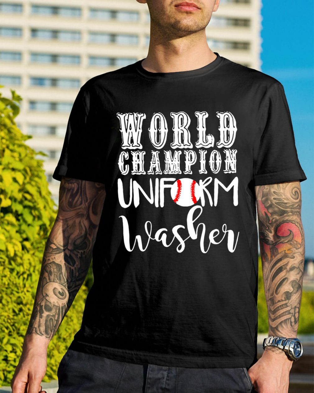 Baseball world champion uniform washer shirt