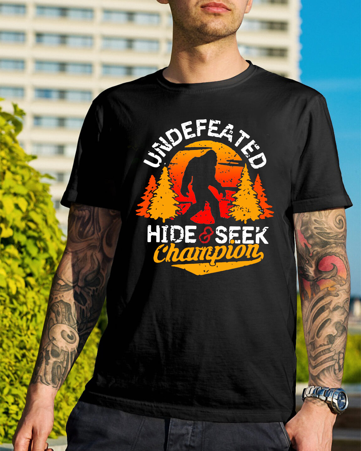 d3ac443e2 Bigfoot undefeated hide and seek champion shirt, hoodie, sweater