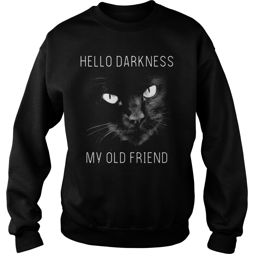 Cat hello darkness my old friend Sweater