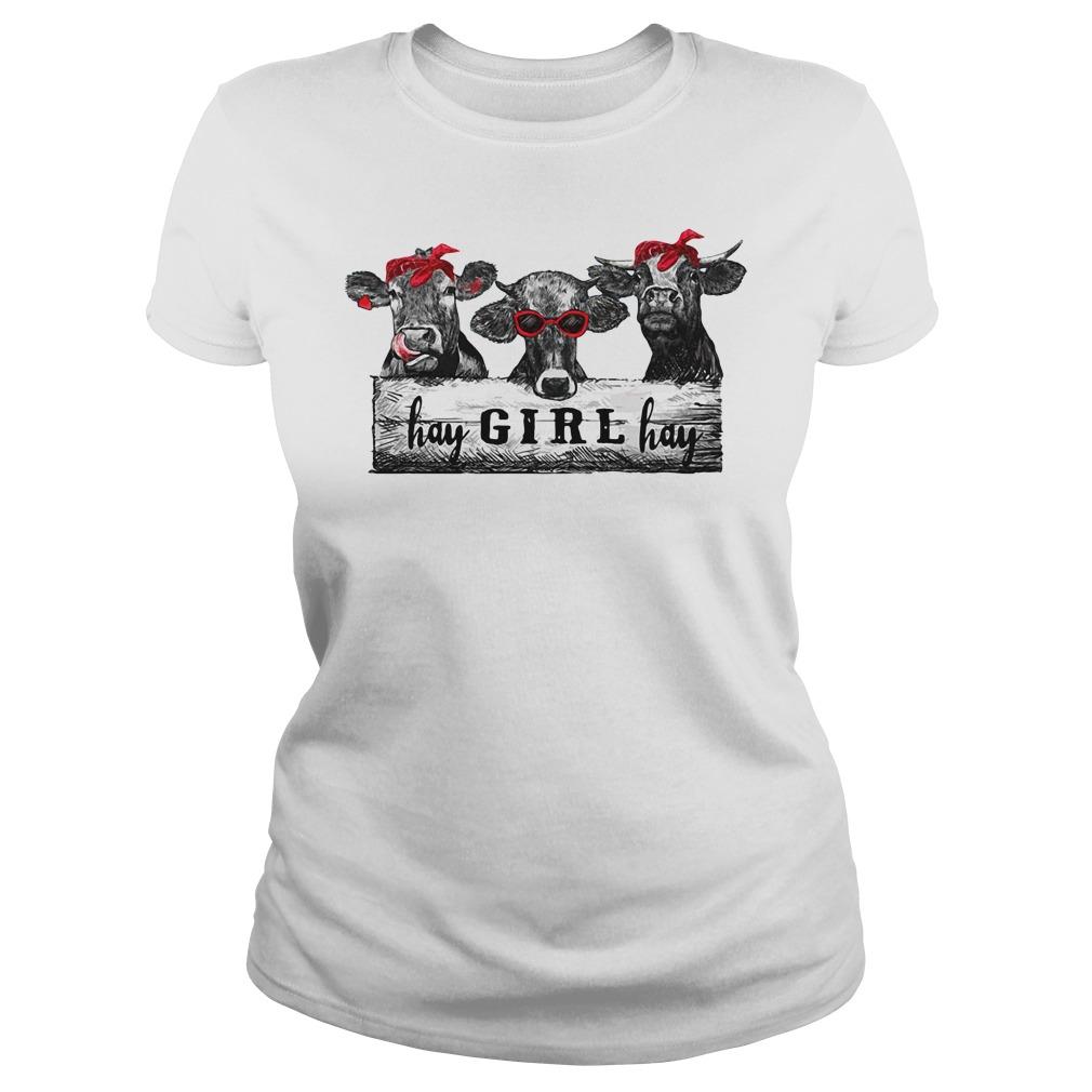 Cow hay girl hay Ladies Tee