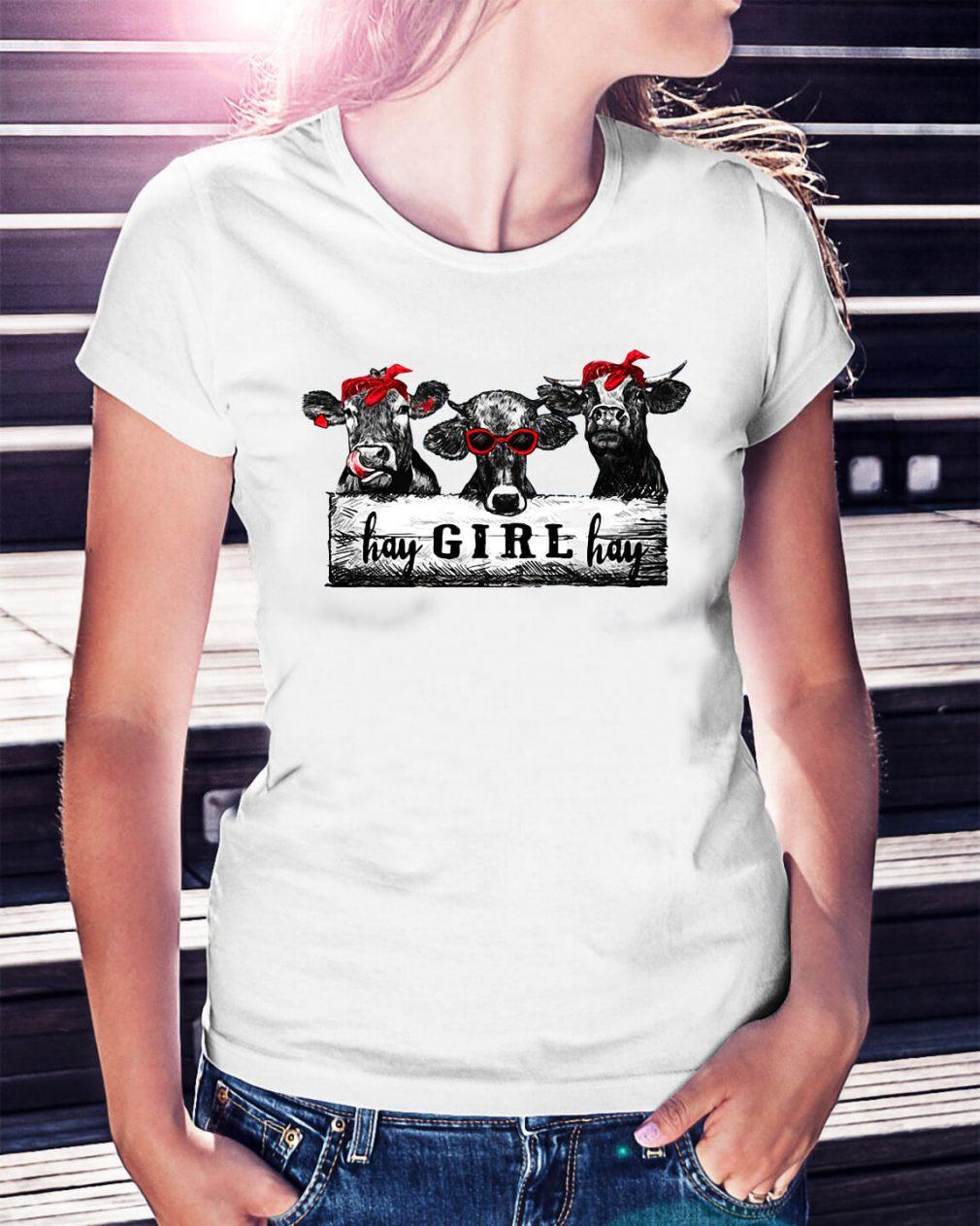 Cow hay girl hay shirt