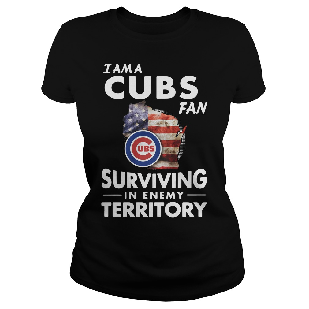I am a Cubs fan surviving in enemy territory Hoodie