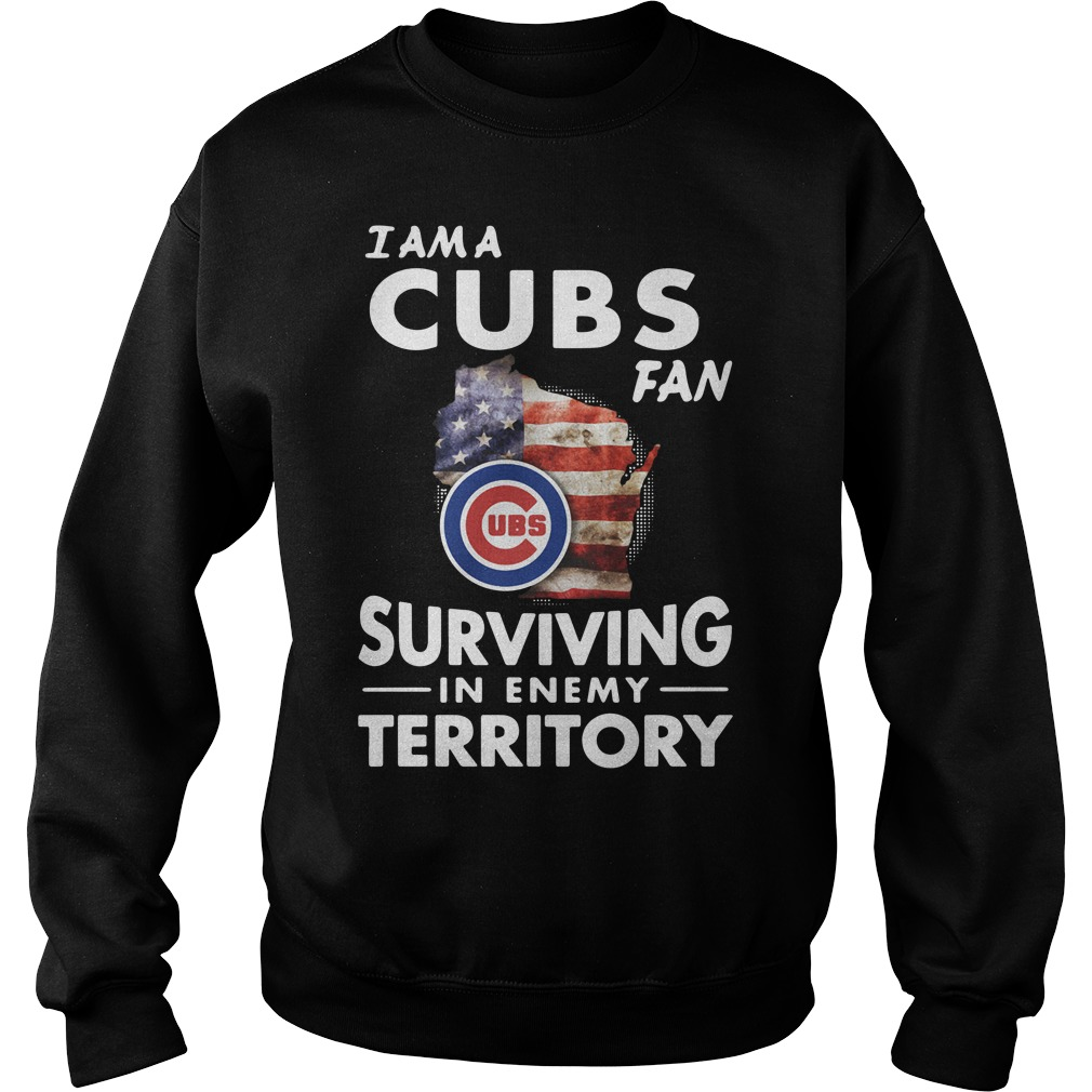 I am a Cubs fan surviving in enemy territory Sweater