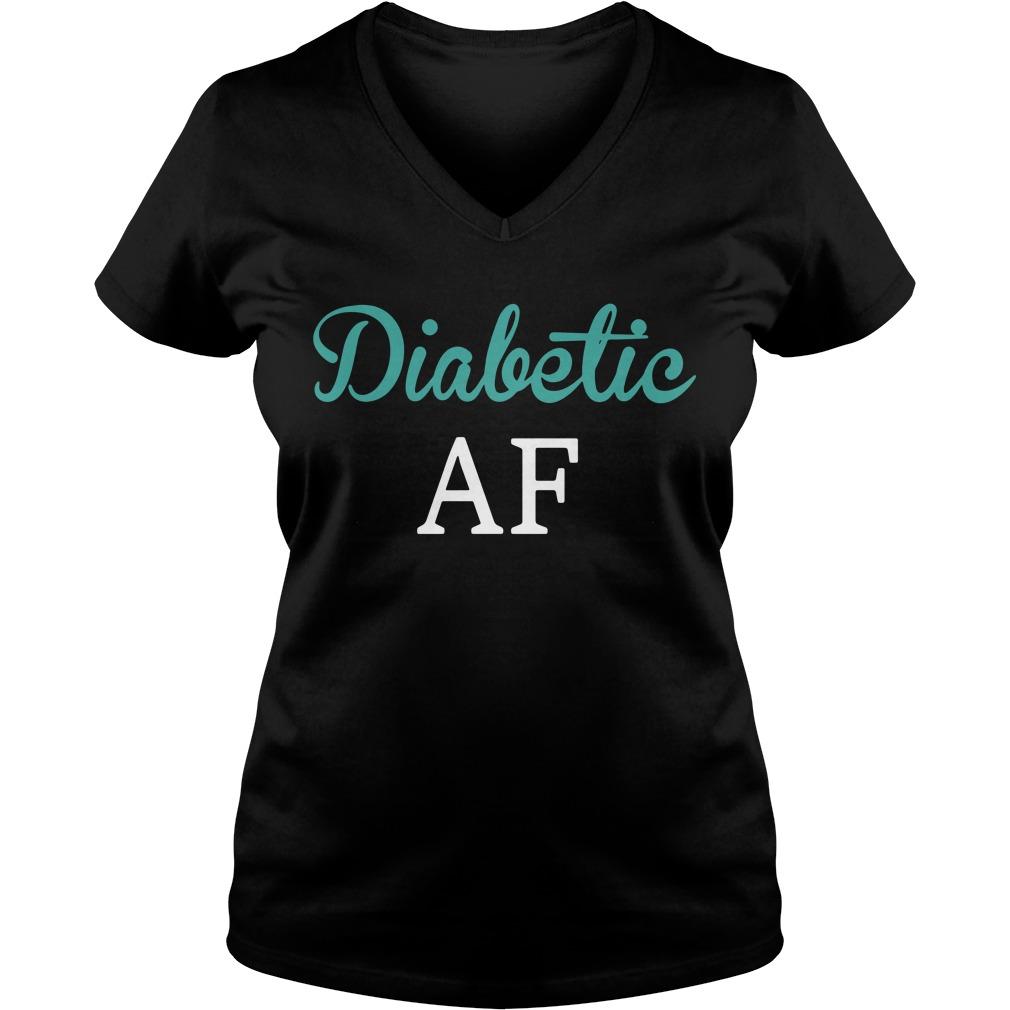 Diabetic AF V-neck T-shirt