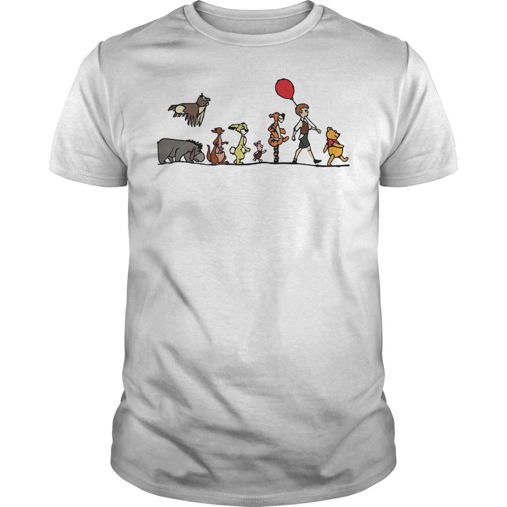 Disney Winnie the Pooh hundred acre wood Guys Shirt