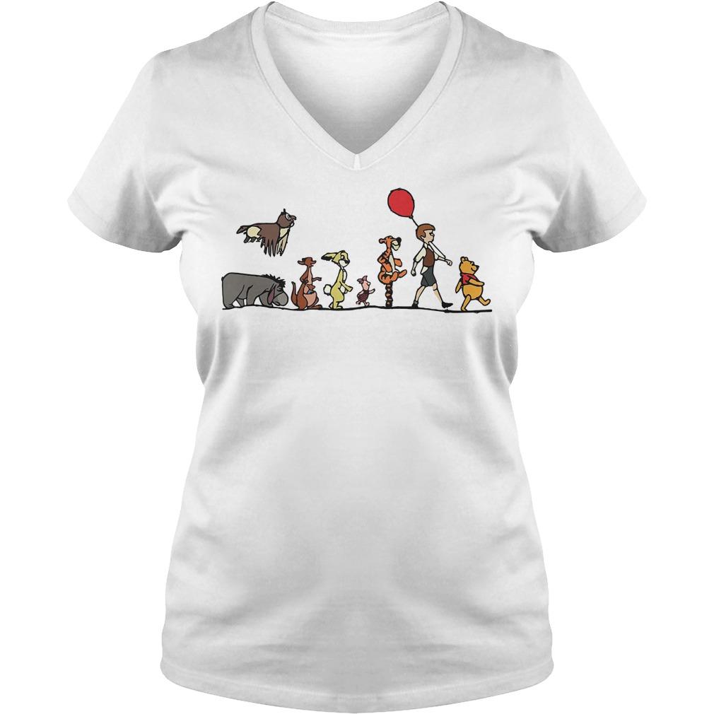 Disney Winnie the Pooh hundred acre wood V-neck T-shirt