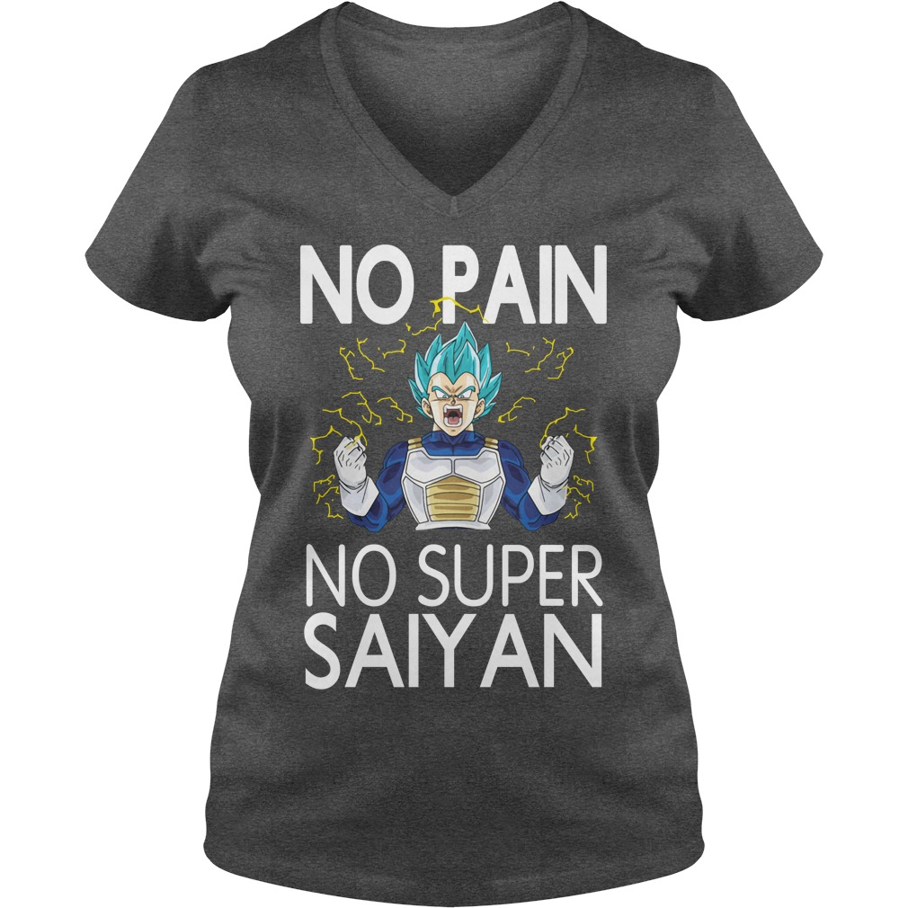 Dragon Ball no pain no Super Saiyan V-neck T-shirt