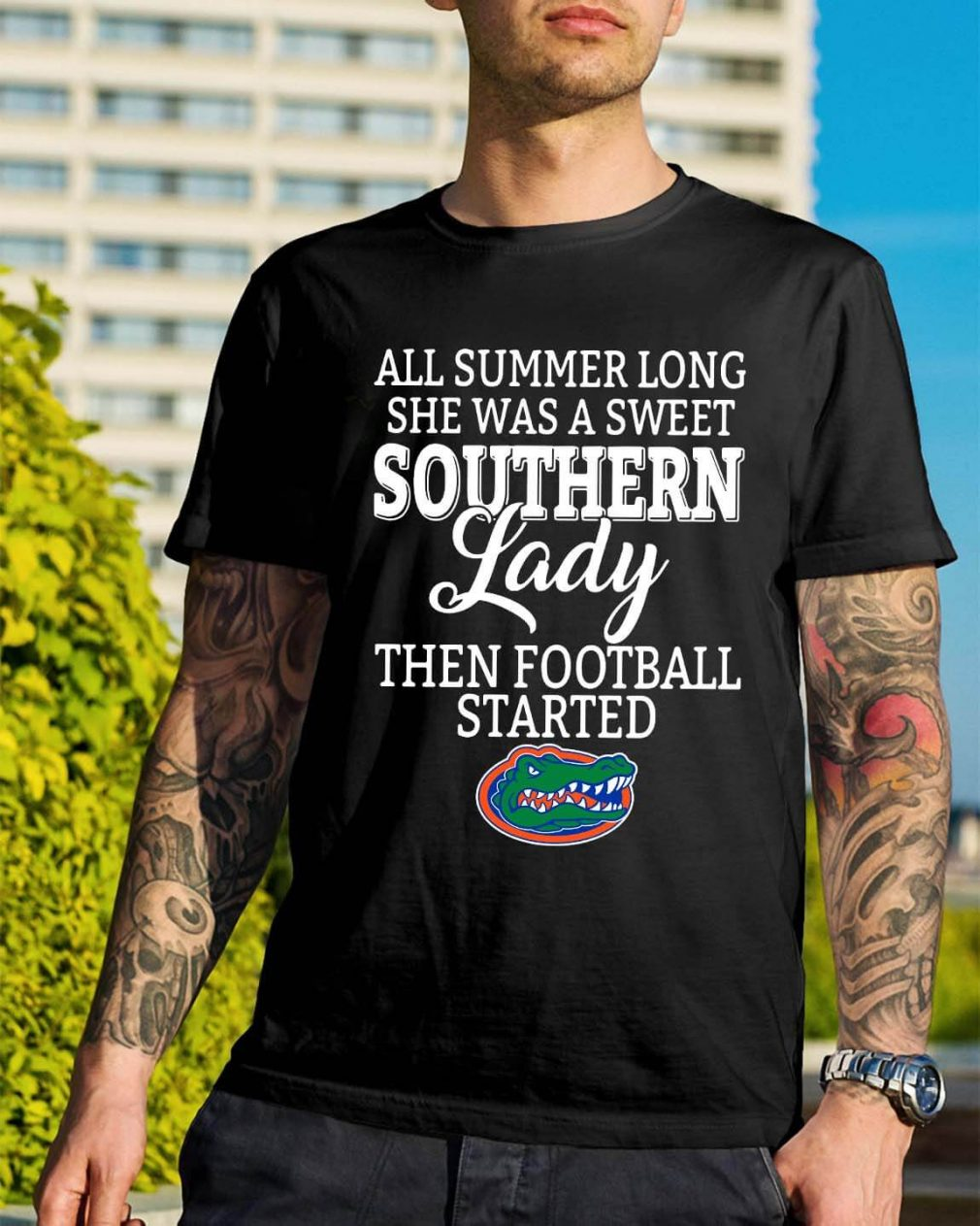 Florida Gators all summer long she was a sweet Southern lady shirt