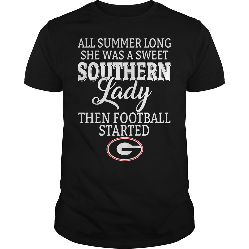 Georgia Bulldogs all summer long she was a sweet Southern Guys Shirt