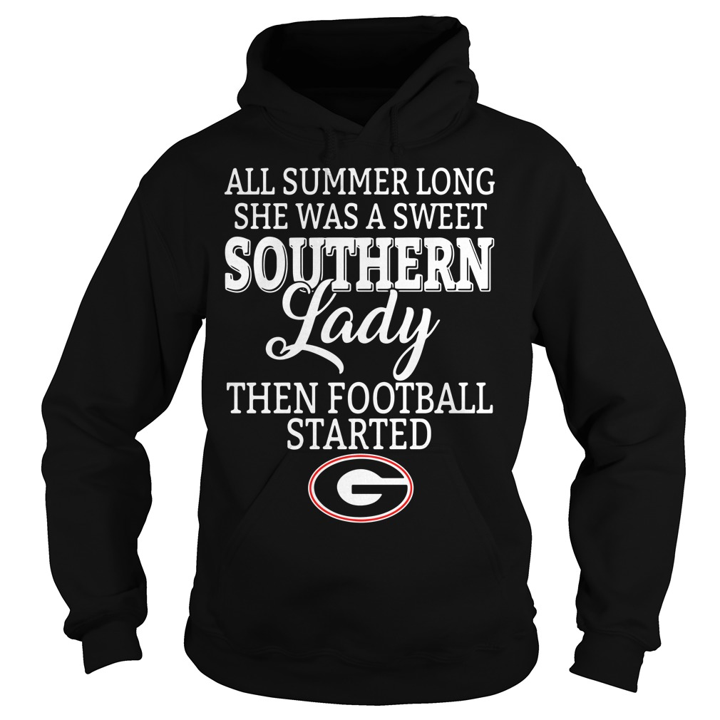 Georgia Bulldogs all summer long she was a sweet Southern Hoodie