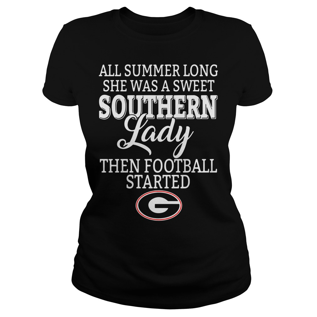 Georgia Bulldogs all summer long she was a sweet Southern Ladies Tee