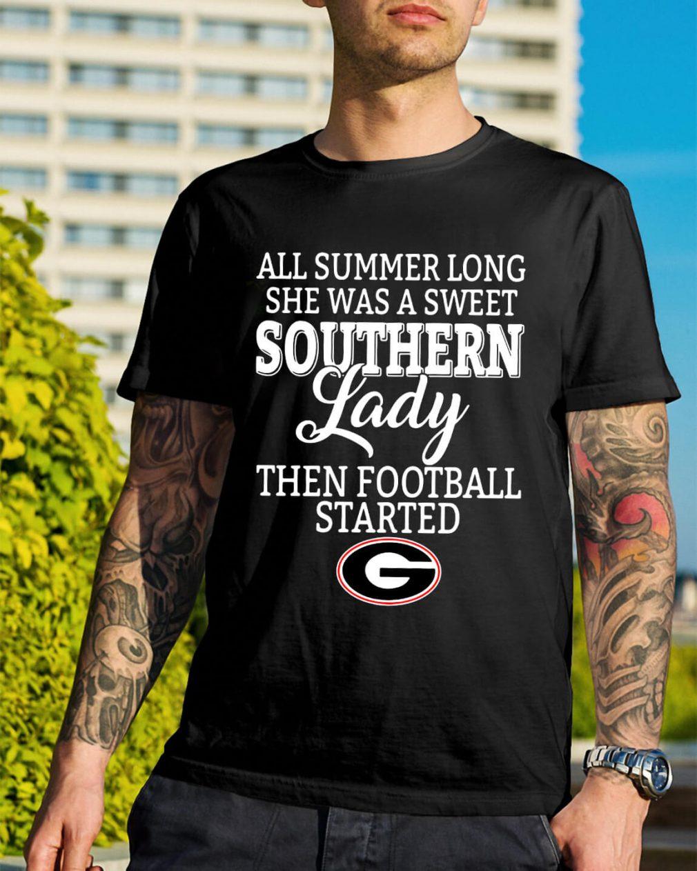 Georgia Bulldogs all summer long she was a sweet Southern shirt
