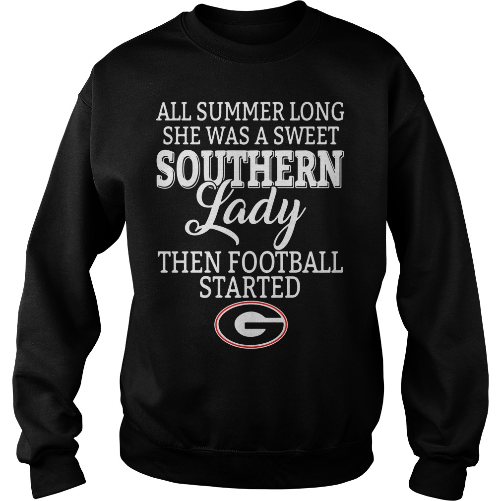 Georgia Bulldogs all summer long she was a sweet Southern Sweater