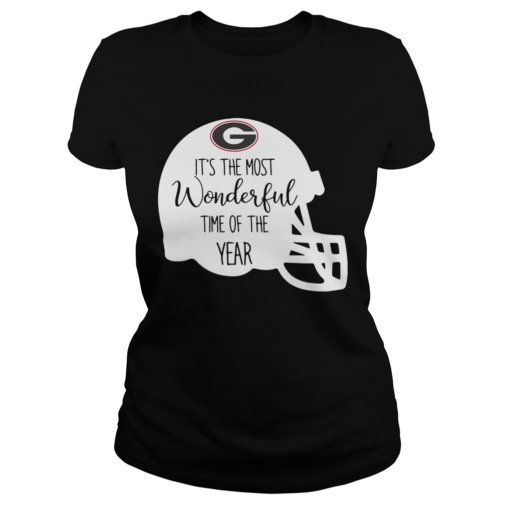 Georgia Bulldogs it's the most wonderful time of the year Ladies Tee