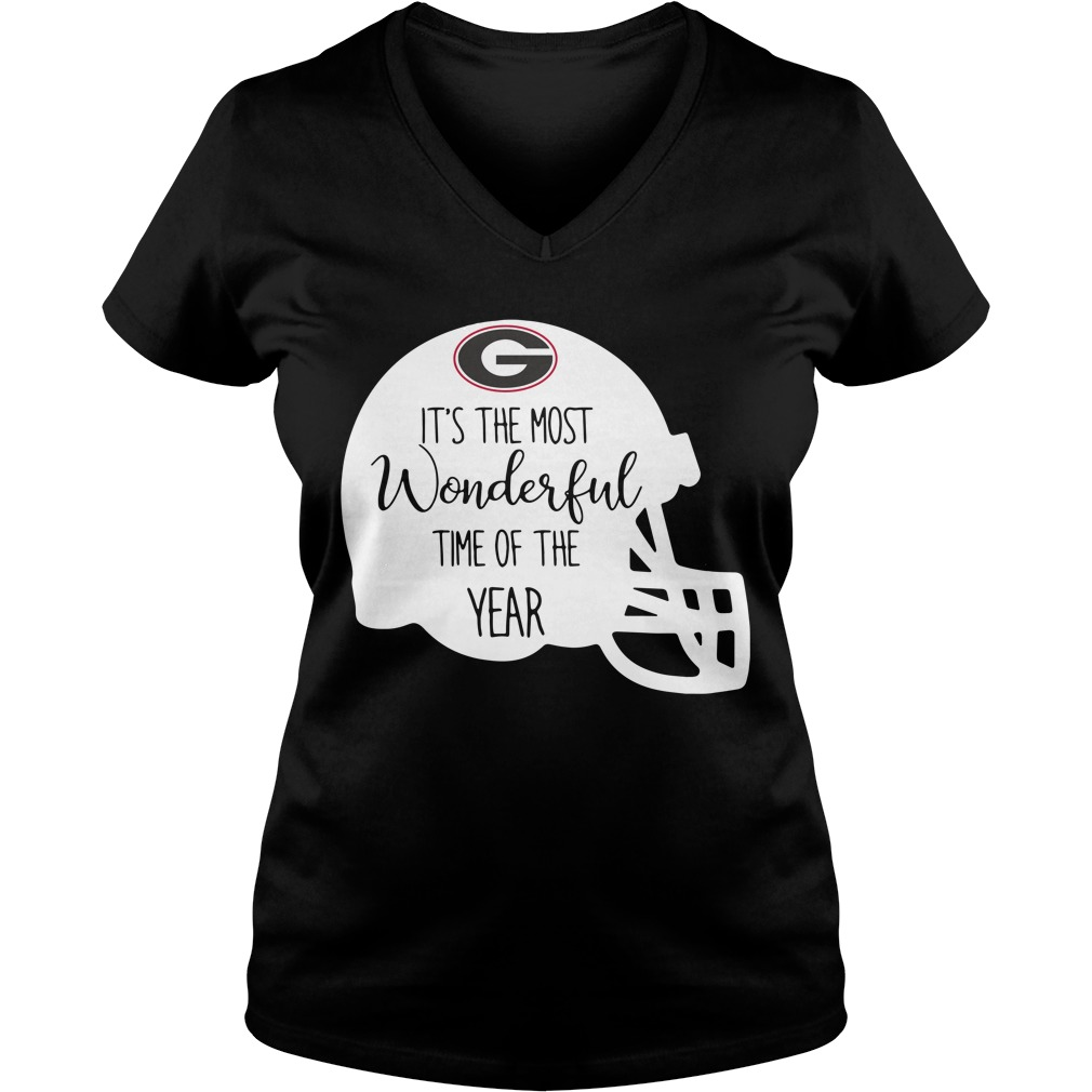 Georgia Bulldogs it's the most wonderful time of the year V-neck T-shirt