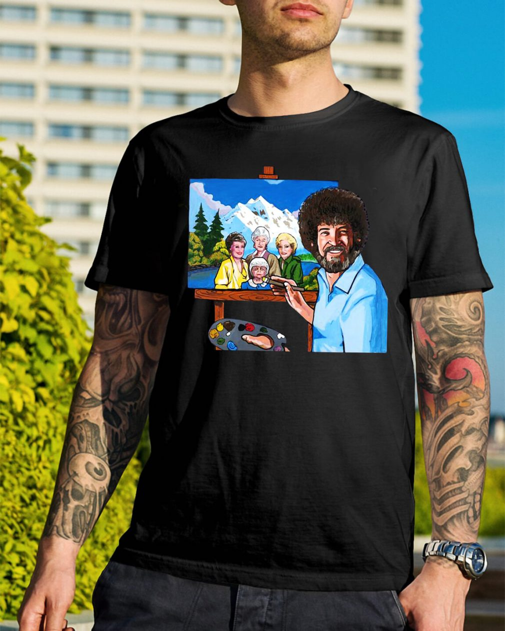 The golden girl by bob ross shirt