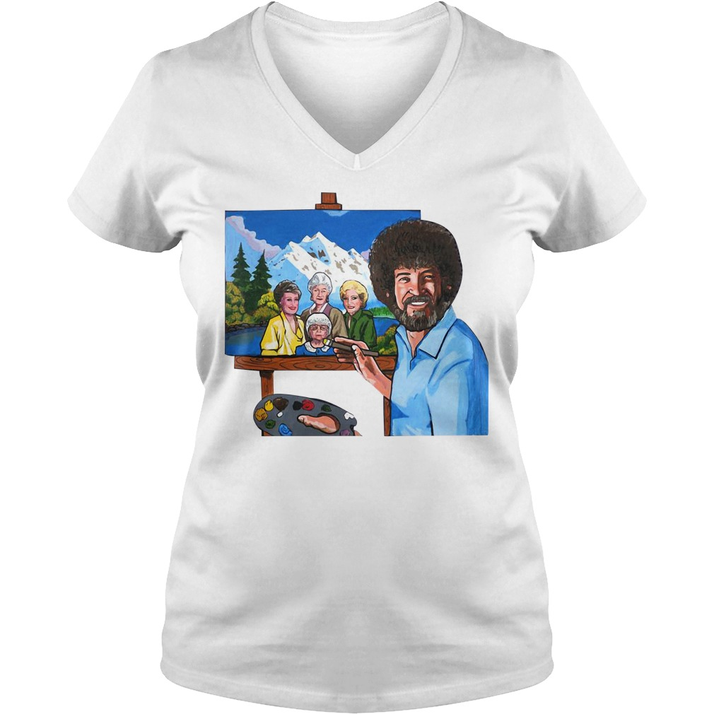 The golden girl by bob ross V-neck T-shirt
