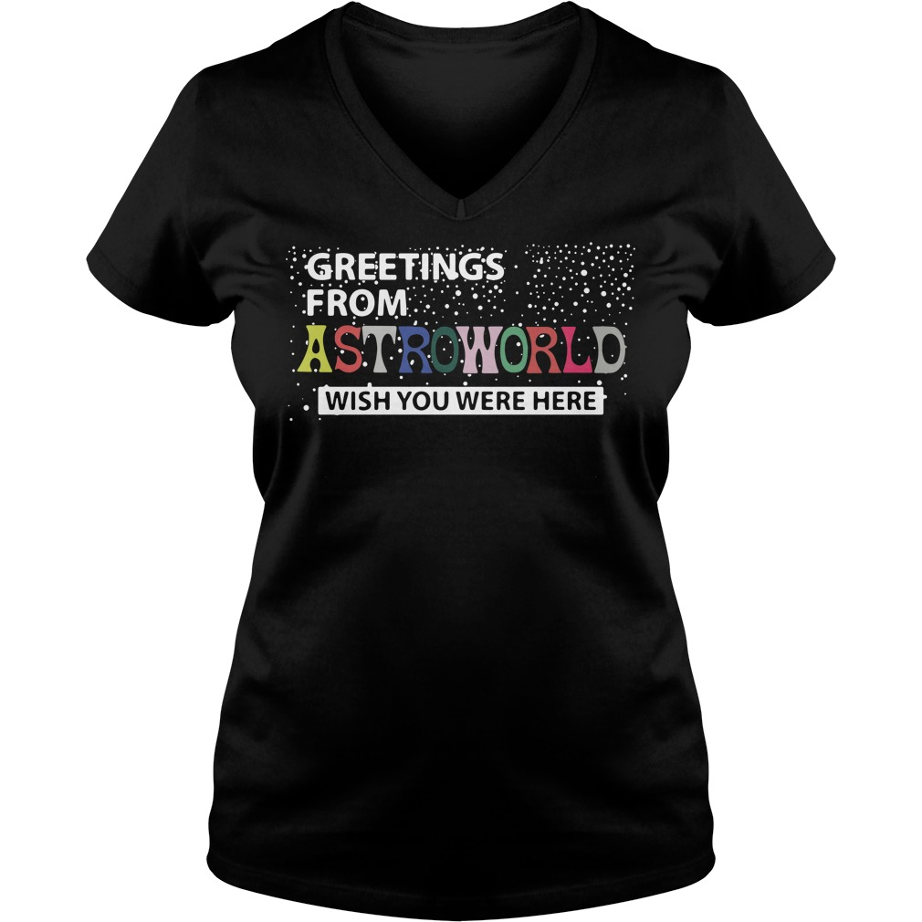 Greetings from astroworld wish you were here V-neck T-shirt