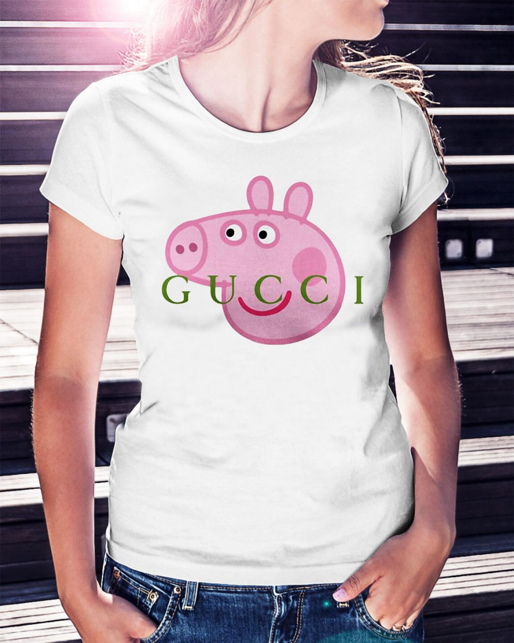 Gucci peppa pig shirt