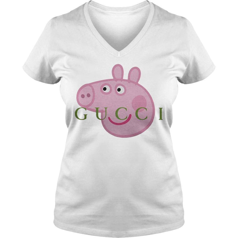 Gucci peppa pig V-neck T-shirt