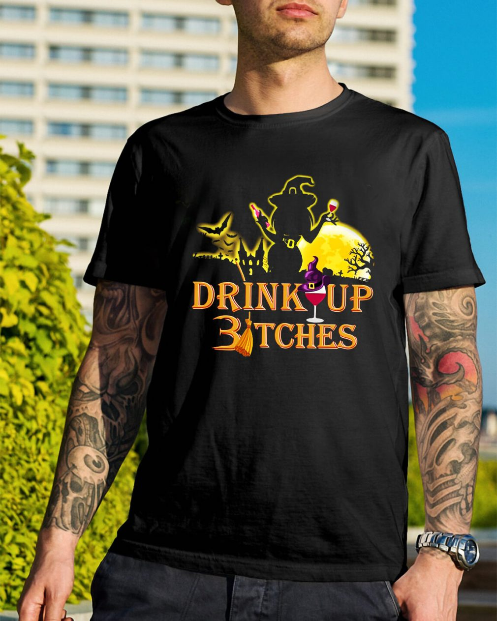 Halloween drink up Bitches shirt