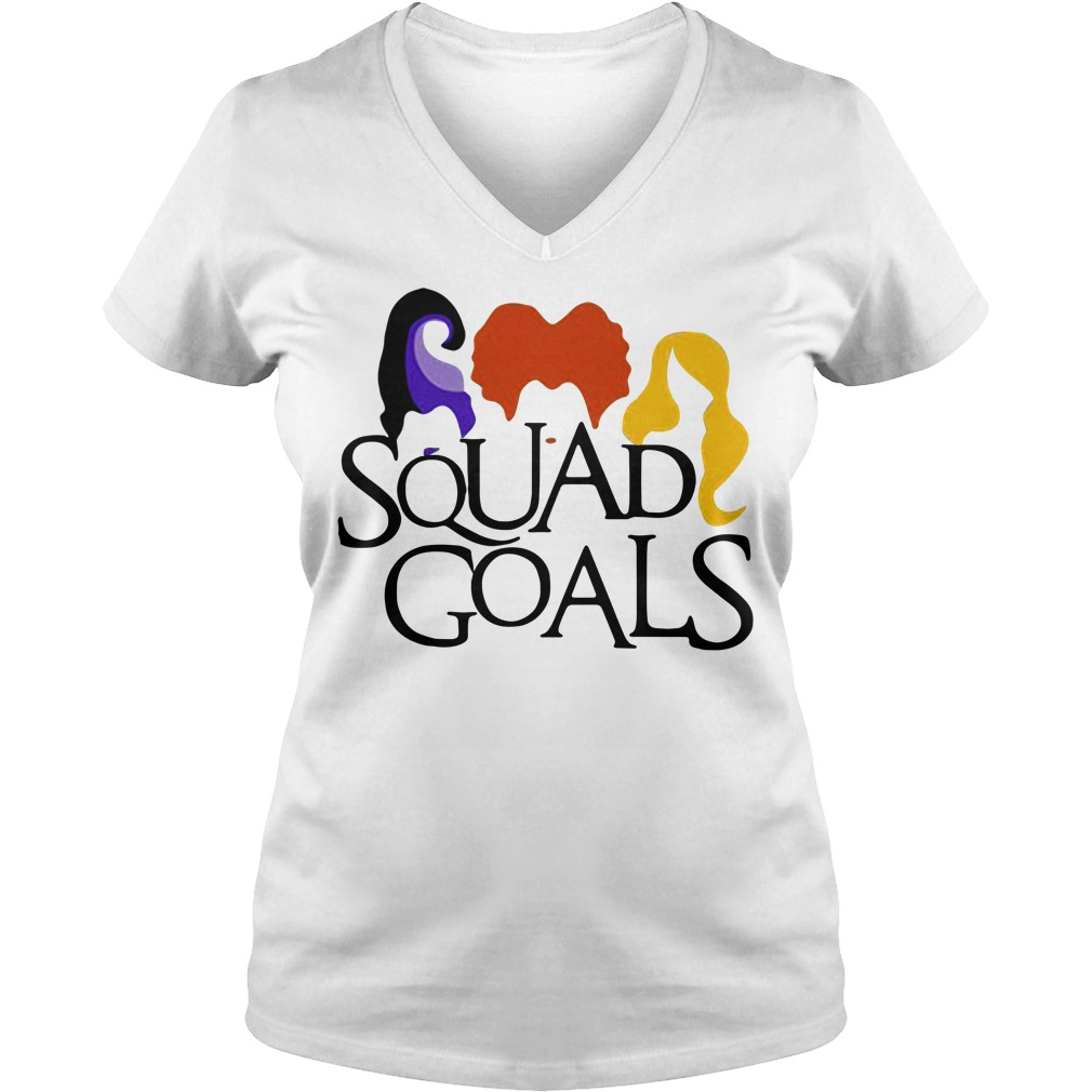 Halloween hocus pocus Squad Goals V-neck T-shirt