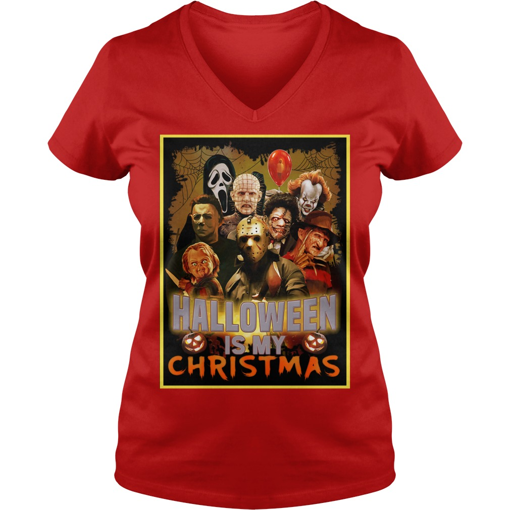 Halloween is my Christmas Honor character V-neck T-shirt