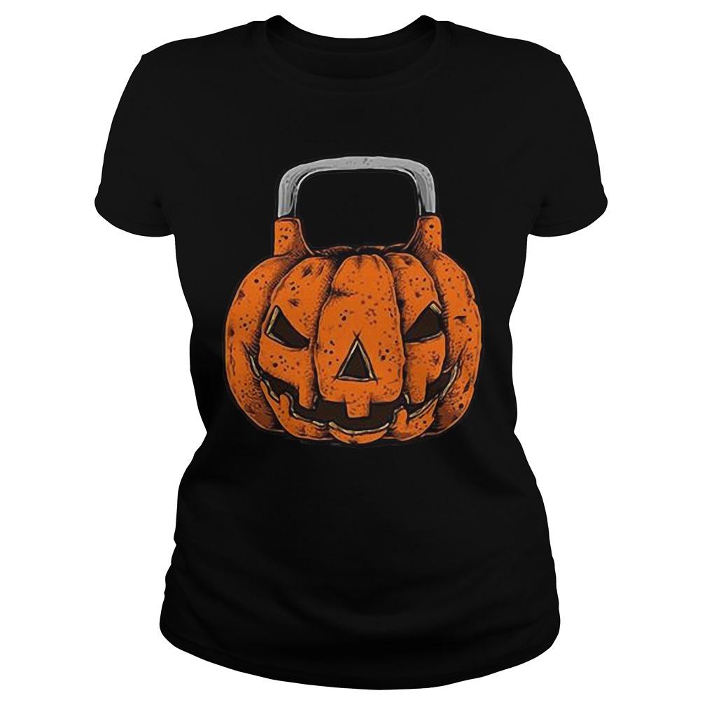 Halloween Jack O'Kettlebell Ladies Tee