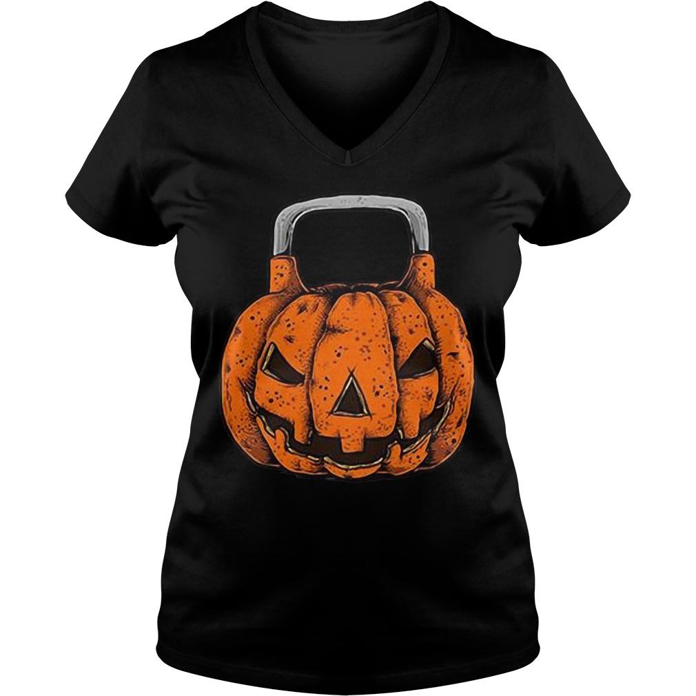 Halloween Jack O'Kettlebell V-neck T-shirt