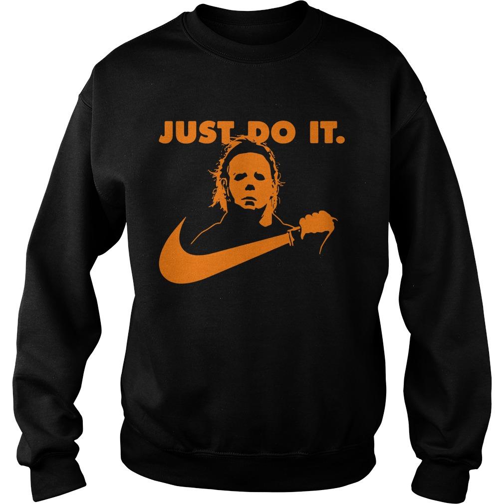 Halloween Michael Myers just do it Sweater