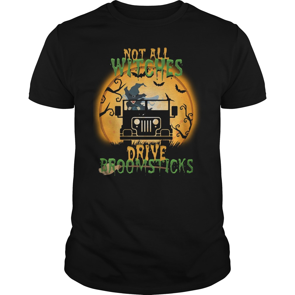 Halloween not all witches drive broomsticks Guys Shirt