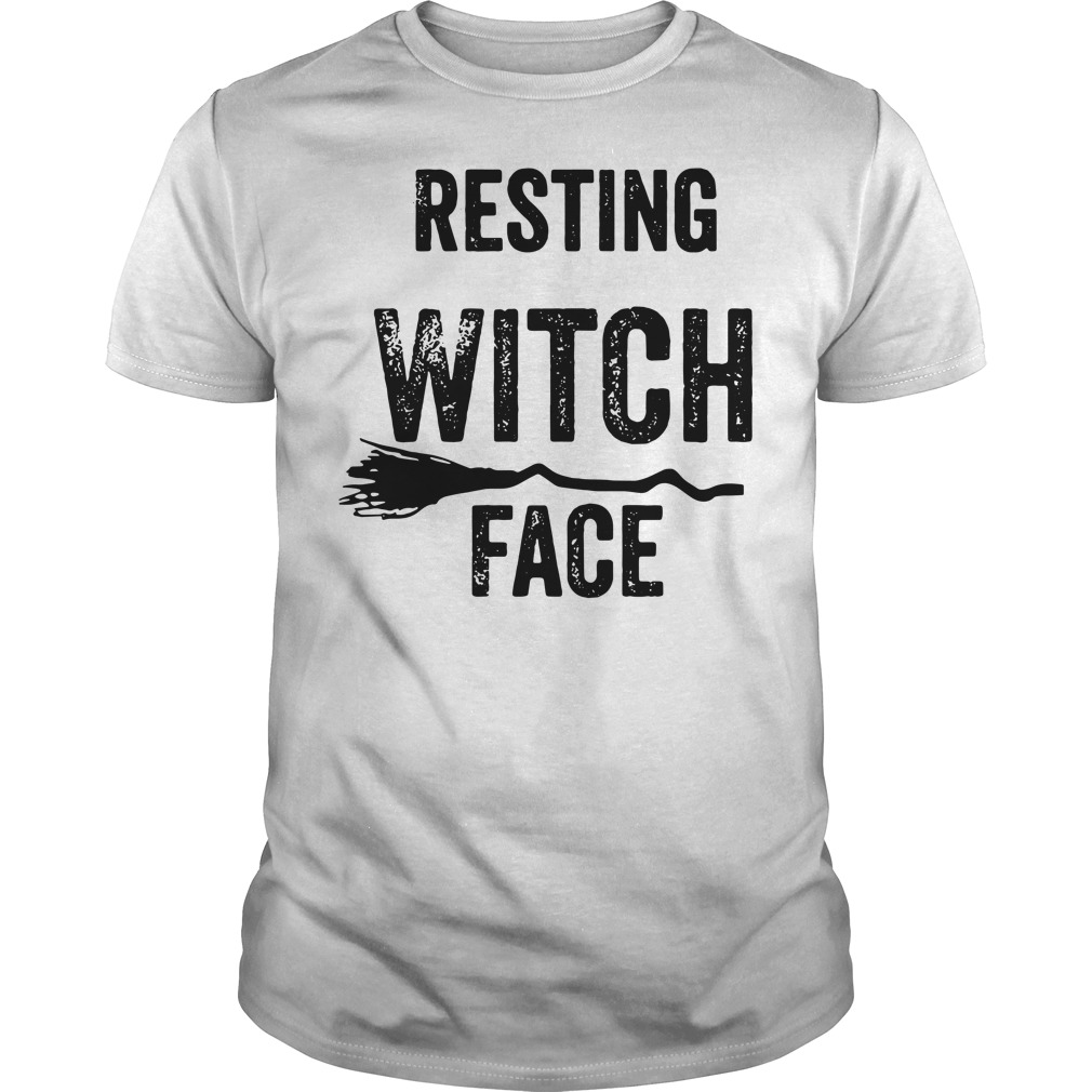 Halloween resting witch face Guys Shirt