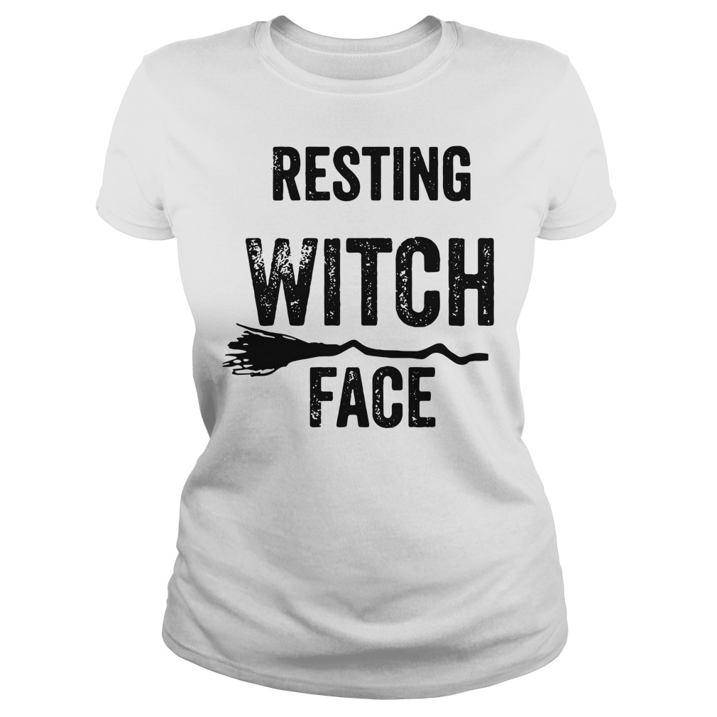 Halloween resting witch face Ladies Tee