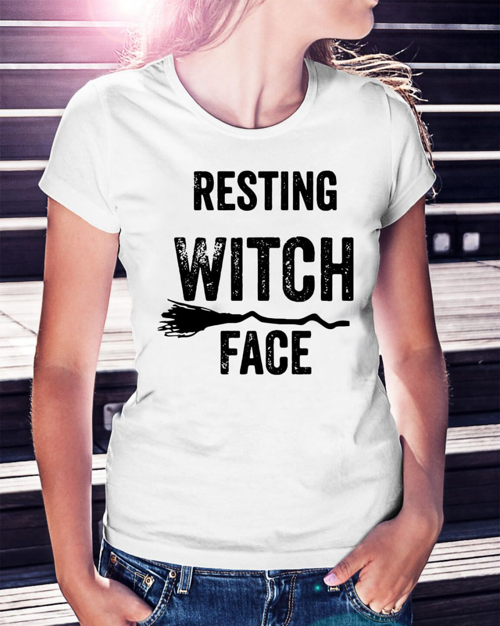 Halloween resting witch face shirt
