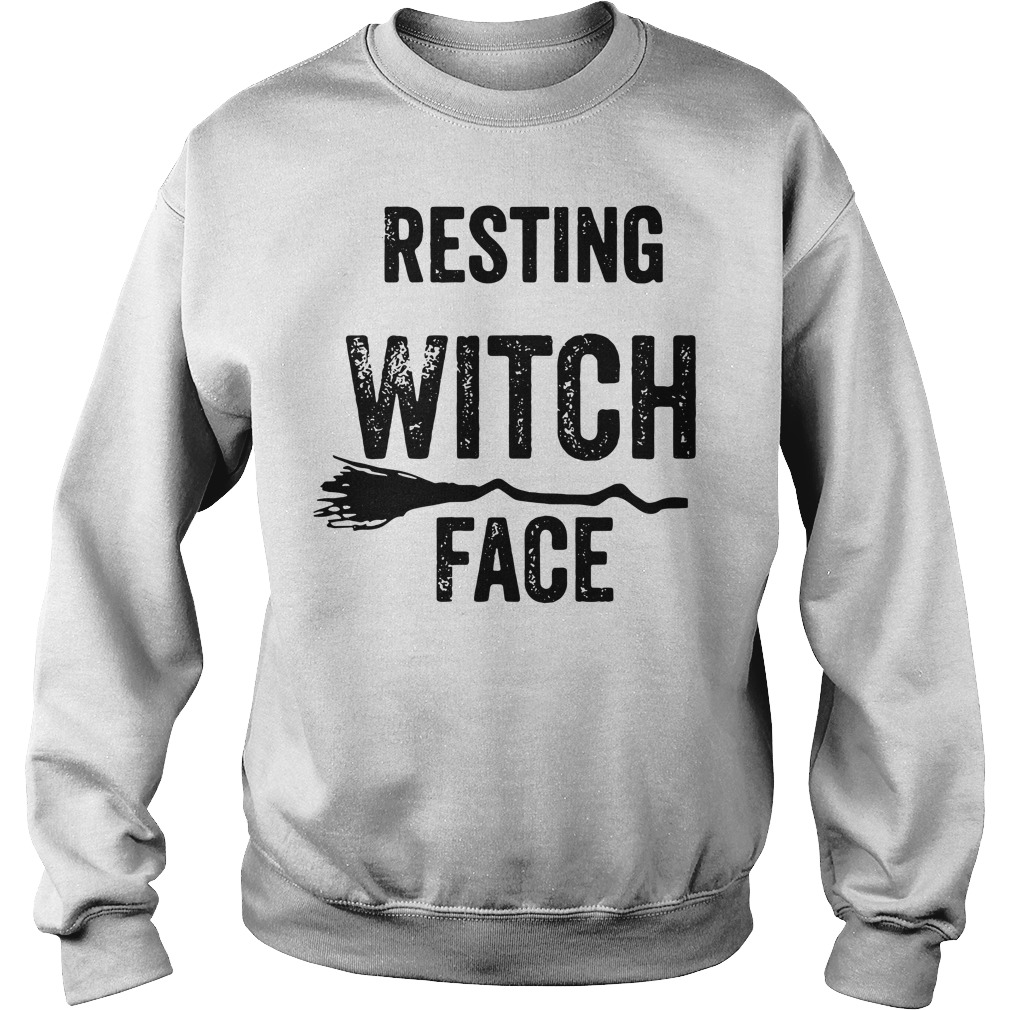 Halloween resting witch face Sweater