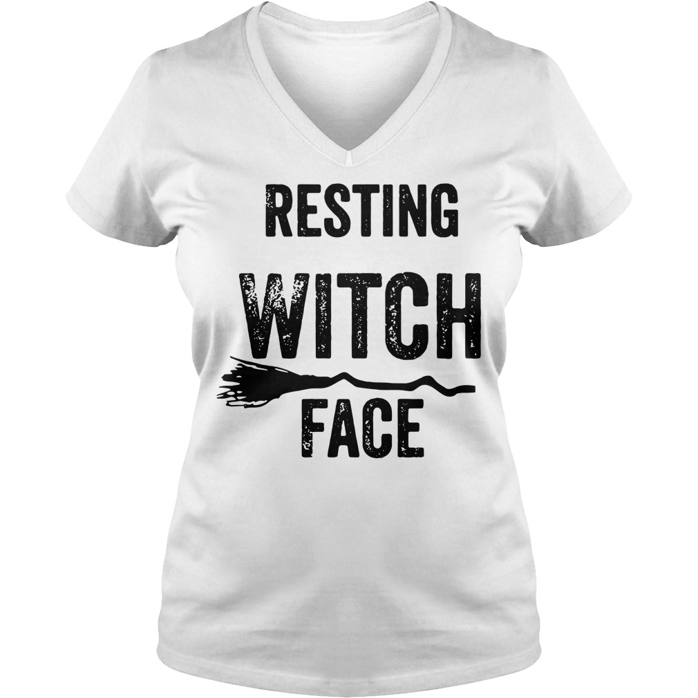 Halloween resting witch face V-neck T-shirt