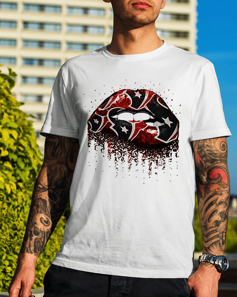 Houston Texans lips shirt